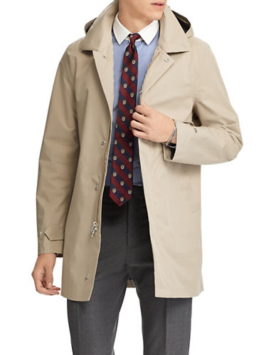 Polo Ralph Lauren Waterproof Twill Coat-KHAKI-X-Large