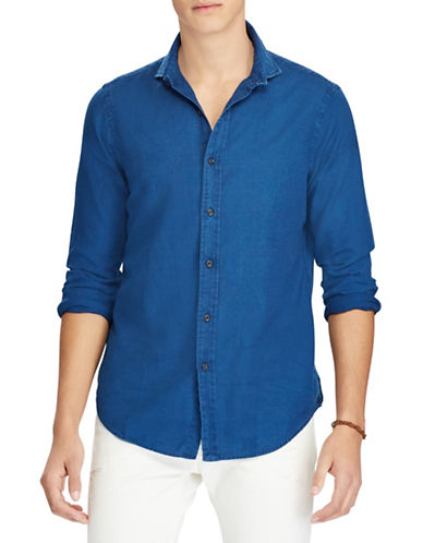 Polo Ralph Lauren Classic Fit Cotton Shirt-BLUE-Large