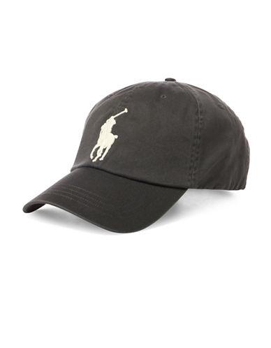 Polo Ralph Lauren Cotton Chino Baseball Cap-GREY-One Size