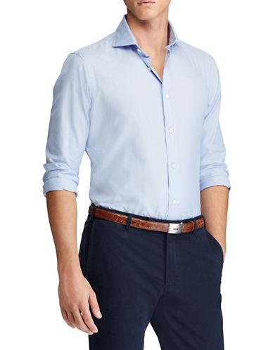 Polo Ralph Lauren Classic-Fit Cotton Sport Shirt-BLUE-Medium