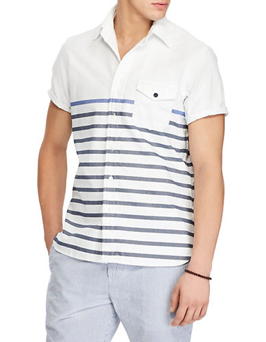 Polo Ralph Lauren Classic-Fit Cotton Sport Shirt-BLUE-Small 89952612_BLUE_Small