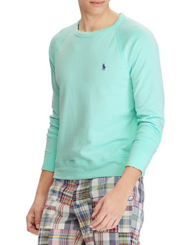 Polo Ralph Lauren Spa Terry Cotton Sweatshirt-BAY GREEN-Medium
