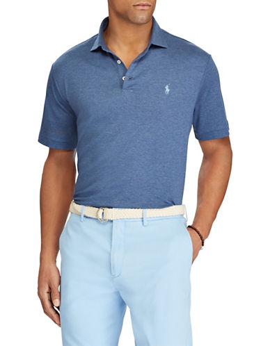 Polo Ralph Lauren Classic-Fit Soft-Touch Cotton Polo-MEDIUM BLUE-XX-Large