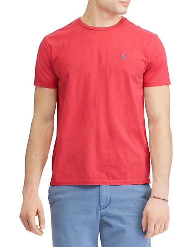 Polo Ralph Lauren Custom Slim-Fit Cotton T-Shirt-RED-Medium 89953032_RED_Medium