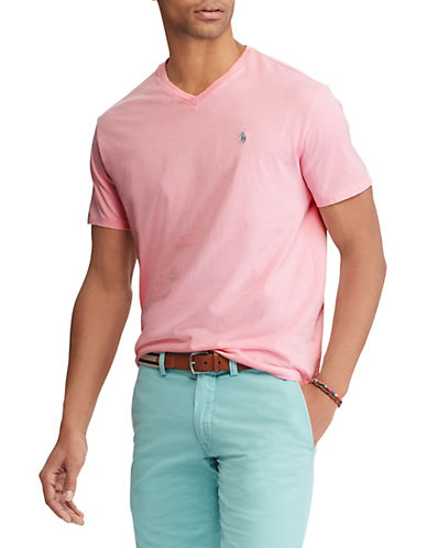 Polo Ralph Lauren Classic-Fit Cotton T-Shirt-PINK-Large 89952479_PINK_Large