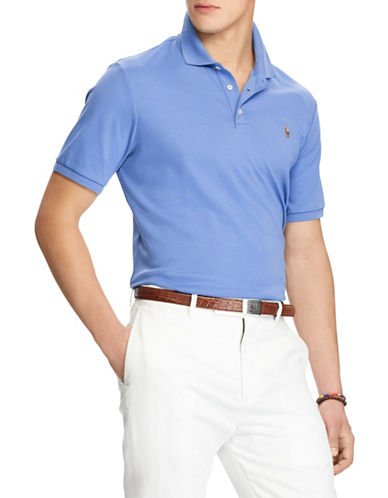 Polo Ralph Lauren Classic-Fit Soft-Touch Cotton Polo-BLUE-XX-Large