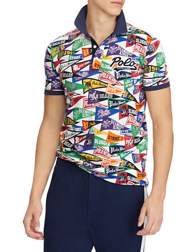 Polo Ralph Lauren Classic-Fit Mesh Cotton Polo-ART DECO-XX-Large