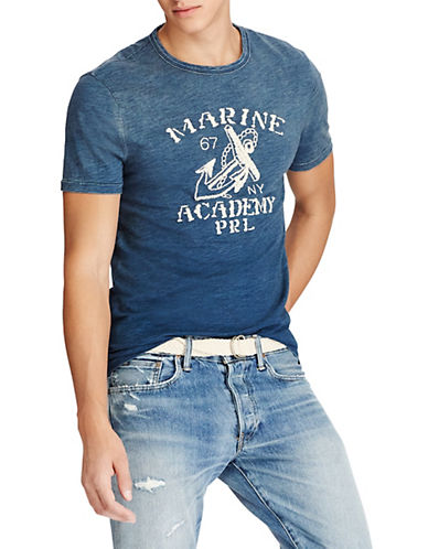 Polo Ralph Lauren Custom Slim-Fit Marine Academy T-Shirt-NAVY-Large 90001742_NAVY_Large