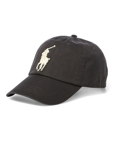 Polo Ralph Lauren Embroidered Leather-Trim Baseball Cap-GREY-One Size