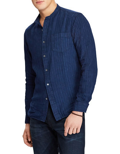 Polo Ralph Lauren Classic-Fit Indigo Linen Sport Shirt-INDIGO-Medium