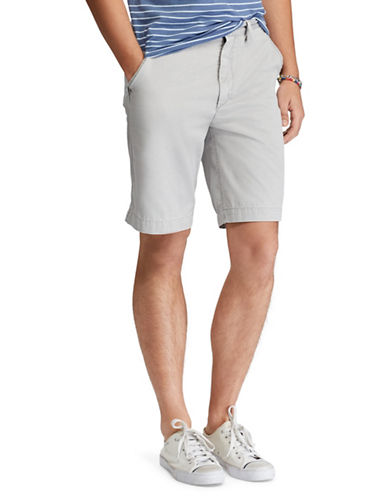 Polo Ralph Lauren Relaxed-Fit Cotton Chino Shorts-GREY-40