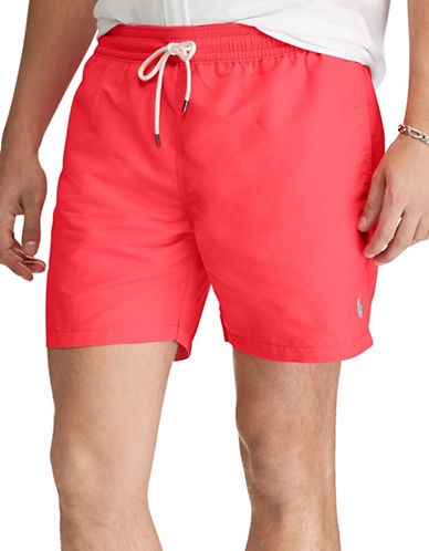 Polo Ralph Lauren Traveller Swim Trunk-RED-Large