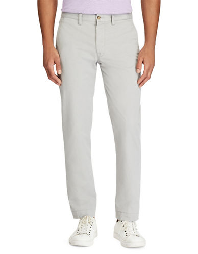 Polo Ralph Lauren Stretch Straight-Fit Chino Pants-GREY-32X32