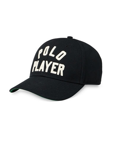 Polo Ralph Lauren Twill Athletic Baseball Cap-BLACK-Large