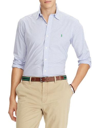 Polo Ralph Lauren Slim-Fit Checked Cotton Sport Shirt-PURPLE-Large