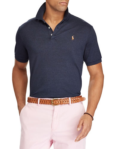 Polo Ralph Lauren Classic-Fit Soft-Touch Cotton Polo-NAVY-Large