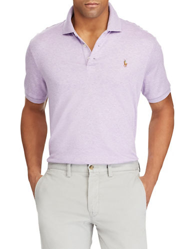 Polo Ralph Lauren Classic-Fit Soft-Touch Cotton Polo-PURPLE-Medium