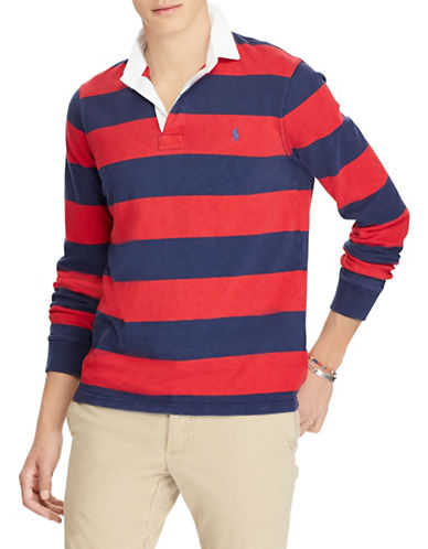 Polo Ralph Lauren Iconic Rugby Cotton Shirt-NAVY/RED-Small 89881634_NAVY/RED_Small