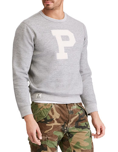 Polo Ralph Lauren Double-Knit Sweatshirt-GREY-XX-Large