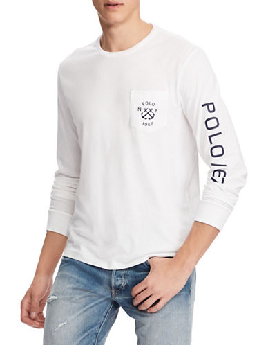Polo Ralph Lauren Custom Slim-Fit Cotton Jersey Tee-WHITE-XX-Large 89881143_WHITE_XX-Large
