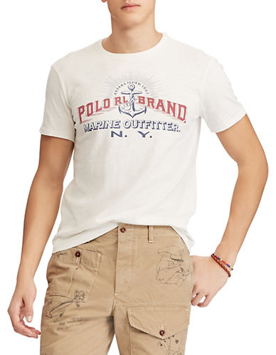 Polo Ralph Lauren Custom Slim-Fit Cotton T-Shirt-WHITE-Medium 89953151_WHITE_Medium