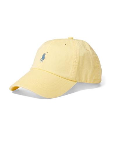 Polo Ralph Lauren Chino Baseball Cap-YELLOW-One Size