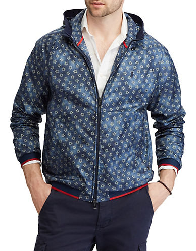 Polo Ralph Lauren Star-Print Water-Repellent Windbreaker Jacket-BLUE-Large 89889048_BLUE_Large