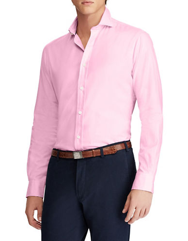 Polo Ralph Lauren Classic-Fit Cotton Sport Shirt-PINK-Large