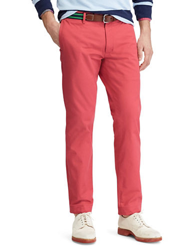 Polo Ralph Lauren Stretch Slim Fit Chino Pants-MEDIUM RED-40X32