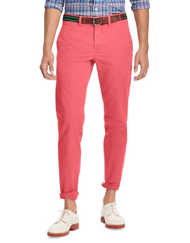 Polo Ralph Lauren Stretch Straight-Fit Chino Pants-MEDIUM RED-36X32
