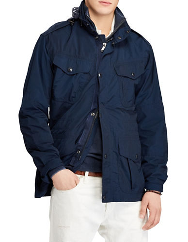 Polo Ralph Lauren Hooded Field Jacket-NAVY-Medium