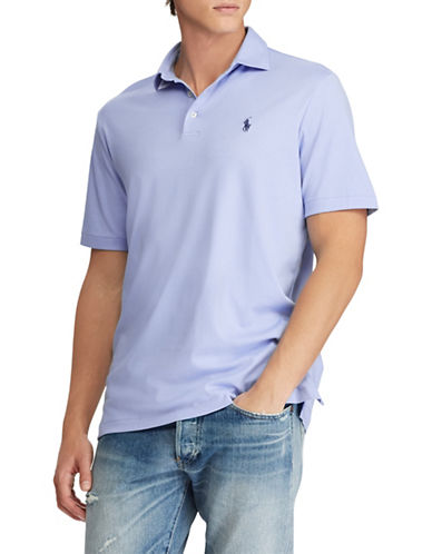 Polo Ralph Lauren Classic-Fit Soft-Touch Cotton Polo-LIGHT BLUE-Medium