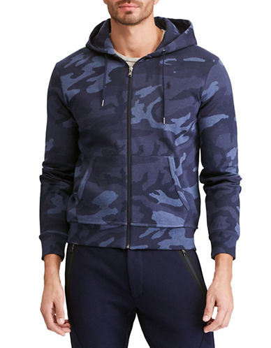 Polo Ralph Lauren Double-Knit Full-Zip Hoodie-BLUE-Small 89816480_BLUE_Small