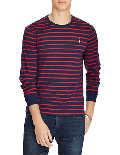 Polo Ralph Lauren Custom Fit Slim Fit Cotton T-Shirt-NAVY-Small