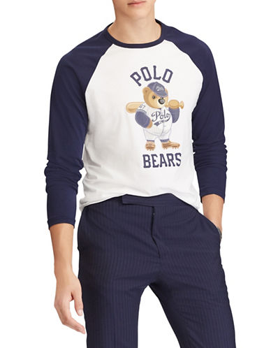 Polo Ralph Lauren Custom Slim-Fit Cotton Tee-NAVY-Small