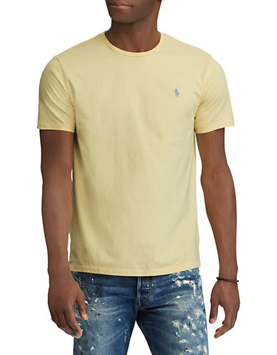 Polo Ralph Lauren Classic-Fit Logo Cotton T-Shirt-YELLOW-Small 89953220_YELLOW_Small