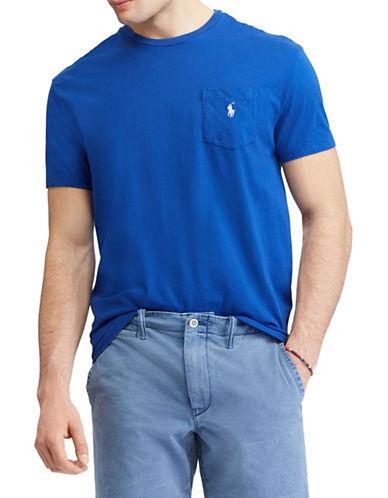 Polo Ralph Lauren Classic-Fit Pocket Cotton Tee-MEDIUM BLUE-Small