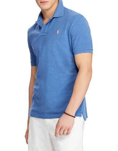Polo Ralph Lauren Big and Tall Classic Fit Mesh Polo Shirt-BLUE-4X Big
