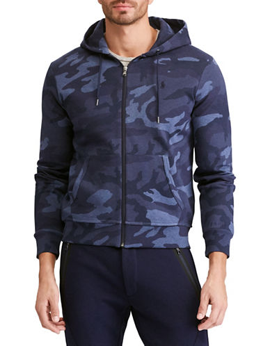 Polo Ralph Lauren Big and Tall Camouflage Double-Knit Hoodie-BLUE-1X Tall