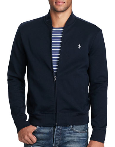 Polo Ralph Lauren Big and Tall Double-Knit Bomber Jacket-NAVY-3X Tall