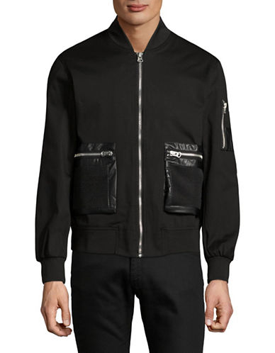 Hip And Bone Safari Bomber Jacket-BLACK-Small