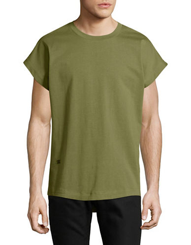 Hip And Bone Shadow Boxy Tee-GREEN-X-Large 89182470_GREEN_X-Large