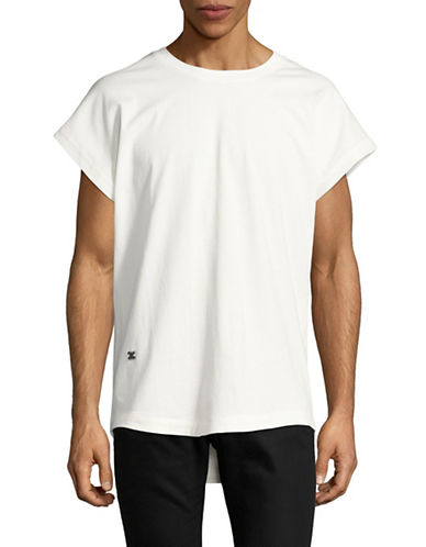 Hip And Bone City Teri Crew Neck T-Shirt-WHITE-X-Large