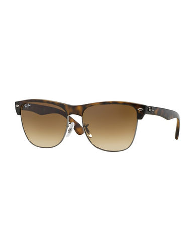 Ray-Ban Oversized Clubmaster Sunglasses-BROWN-One Size