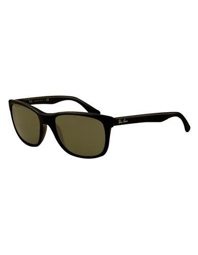 Ray-Ban Flat Top Boyfriend Wayfarer Sunglasses-BLACK-One Size