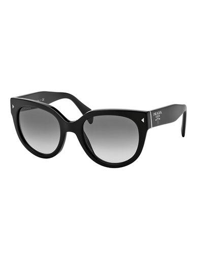 Prada Swing Round Sunglasses-BLACK-One Size
