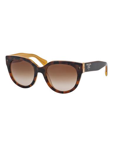 Prada Swing Round Sunglasses-TOP LIGHT HAVANA/OPAL YELLOW-One Size
