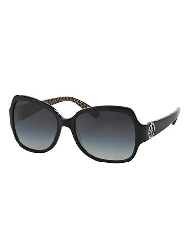 Tory Burch Classic Square Sunglasses-BLACK-One Size