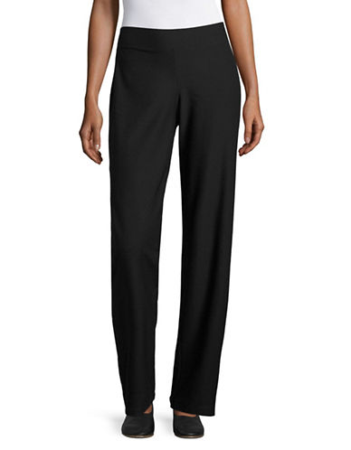 Eileen Fisher Stretch Band Trousers-BLACK-Large