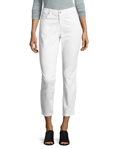 Eileen Fisher Slim Ankle Jeans-WHITE-6